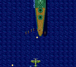 Twin Hawk TurboGrafx CD Bigger ship appears...