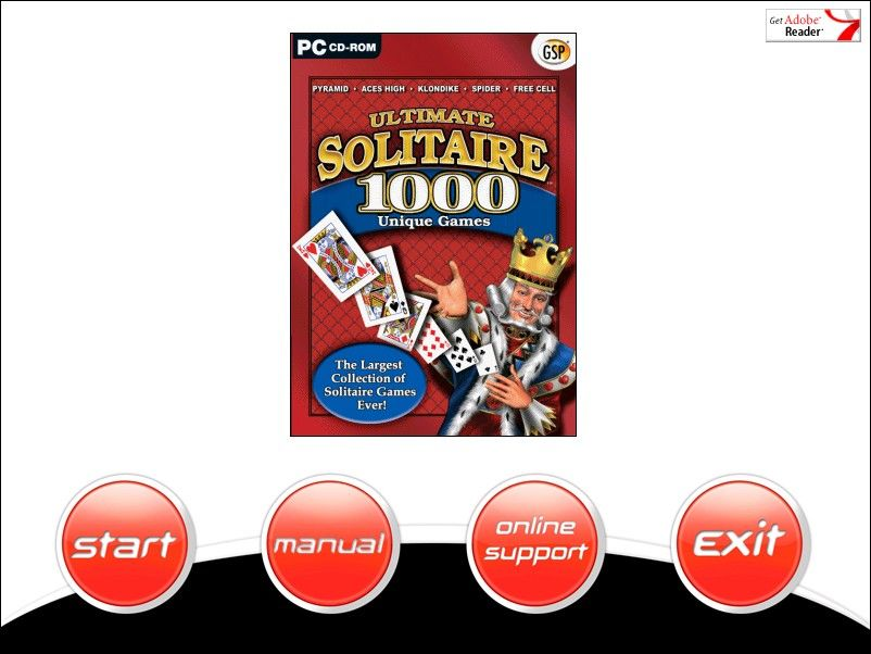 Ultimate Solitaire 1000 Windows Game install screen