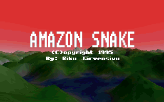 Amazon Snake DOS It is followed by the game's title screen