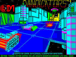Vindicators ZX Spectrum This screen displays while the game is loading