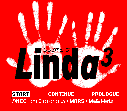 Linda³  TurboGrafx CD Title screen