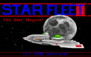 Star Fleet I: The War Begins! Amiga Title screen