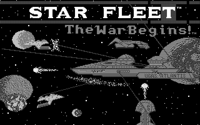 Star Fleet I: The War Begins! Atari ST Title screen (Monochrome)