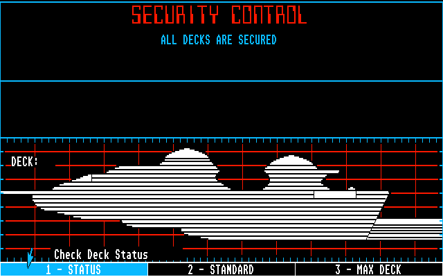 Star Fleet I: The War Begins! Atari ST Security control