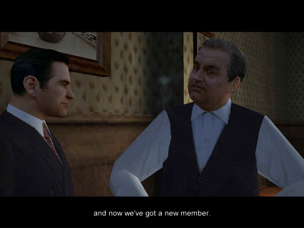 Mafia Windows The game has many cinematic cutscenes. The Don here seemed to be happy with my ability to destroy cars