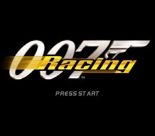 007: Racing PlayStation Title screen.