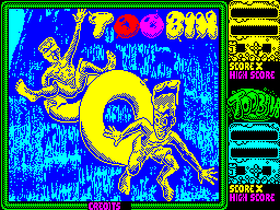 Toobin' ZX Spectrum This screen displays as the game loads