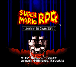 Super Mario RPG: Legend of the Seven Stars SNES Title screen