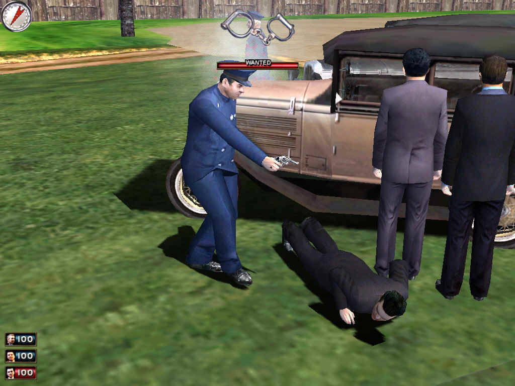 Mafia Windows Game over; I've been arrested.  I only killed four people, too!  Geez!