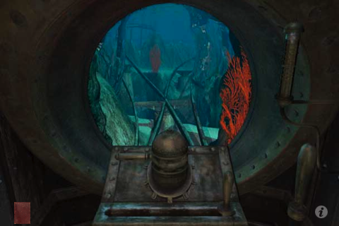 Riven: The Sequel to Myst iPhone Inside a submarine.