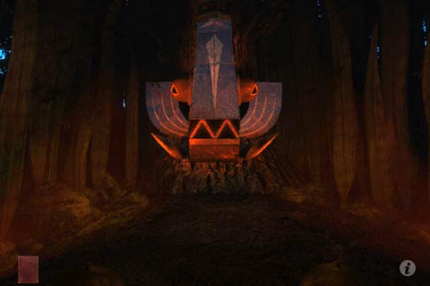 Riven: The Sequel to Myst iPhone A totem for one fearsome creature.