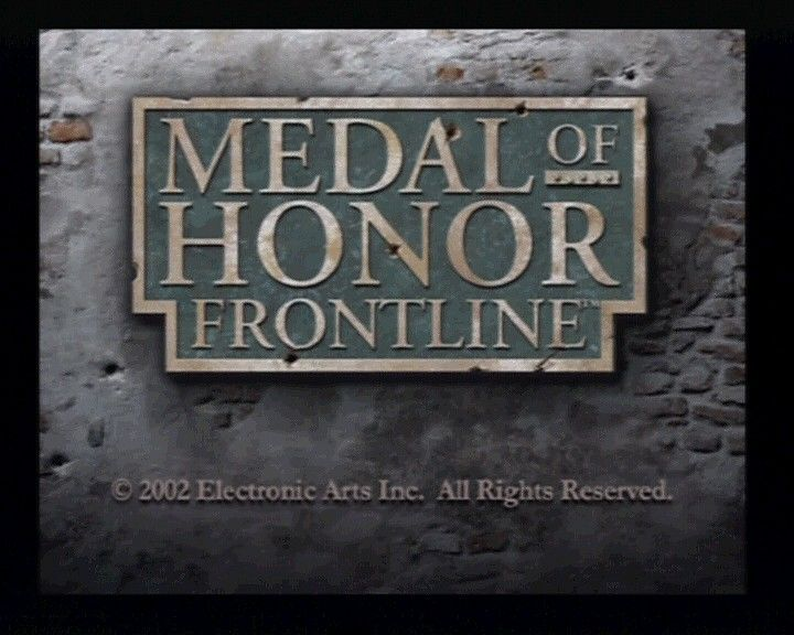 Medal of Honor: Frontline PlayStation 2 Main Title