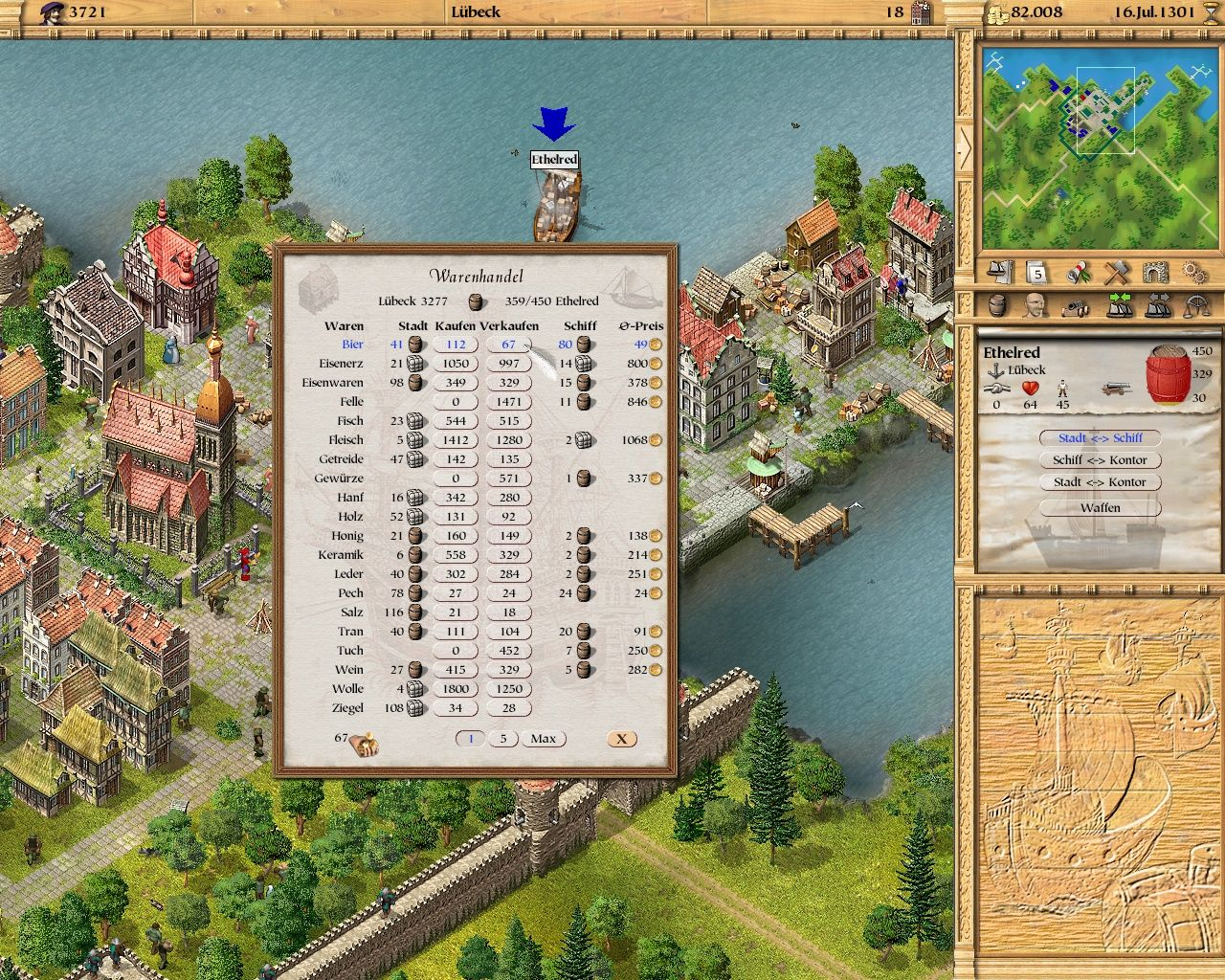Patrician II: Quest for Power Windows You can trade plenty of wares in the game. Later on you will be able to produce most of them in your own facilities.