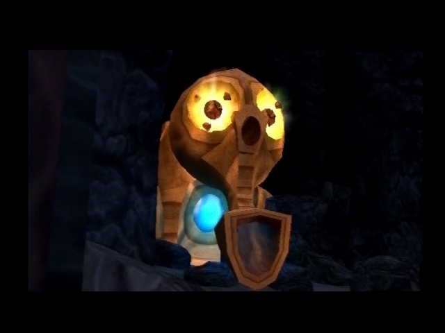 Jak and Daxter: The Precursor Legacy PlayStation 2 The Oracle, those eyes look like power cells.