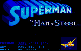 Superman: The Man of Steel Atari ST Title Screen