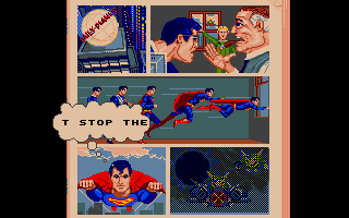 Superman: The Man of Steel Atari ST Comics describe the story between missions