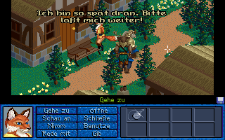Inherit the Earth: Quest for the Orb Amiga CD32 Exploring the temple area.