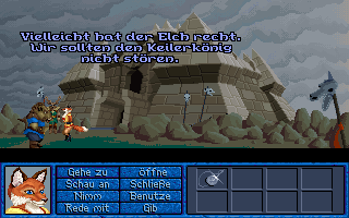 Inherit the Earth: Quest for the Orb Amiga CD32 The boar king's castle.