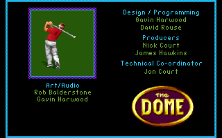 PGA European Tour Amiga CD32 The credits.