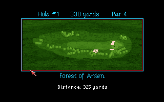 PGA European Tour Amiga CD32 An overview of hole #1.