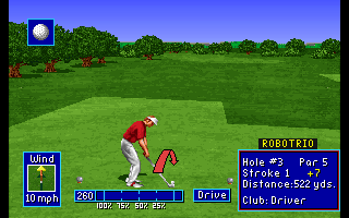 PGA European Tour Amiga CD32 Preparing for hole #3.