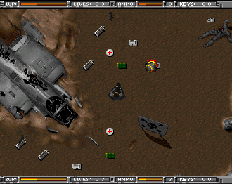 Alien Breed: Tower Assault Amiga CD32 Start of the first level.