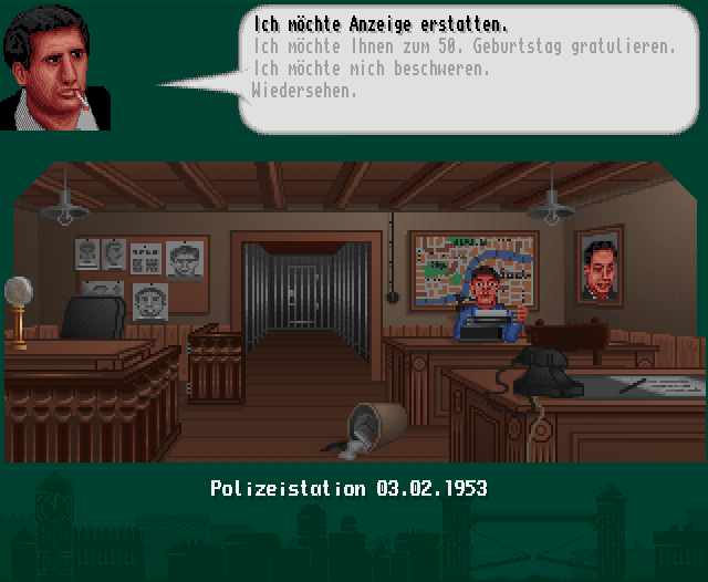 The Clue! Amiga CD32 At the police station.