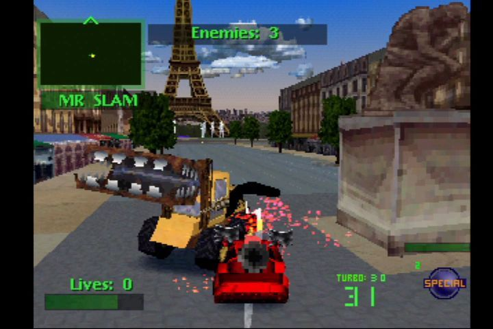 Twisted Metal 2 PlayStation Paris level