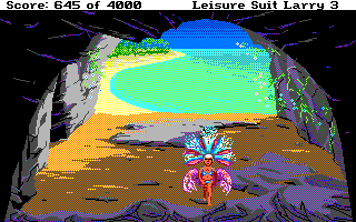 Leisure Suit Larry III: Passionate Patti in Pursuit of the Pulsating Pectorals Atari ST Why is Larry walking around in such odd clothing?!