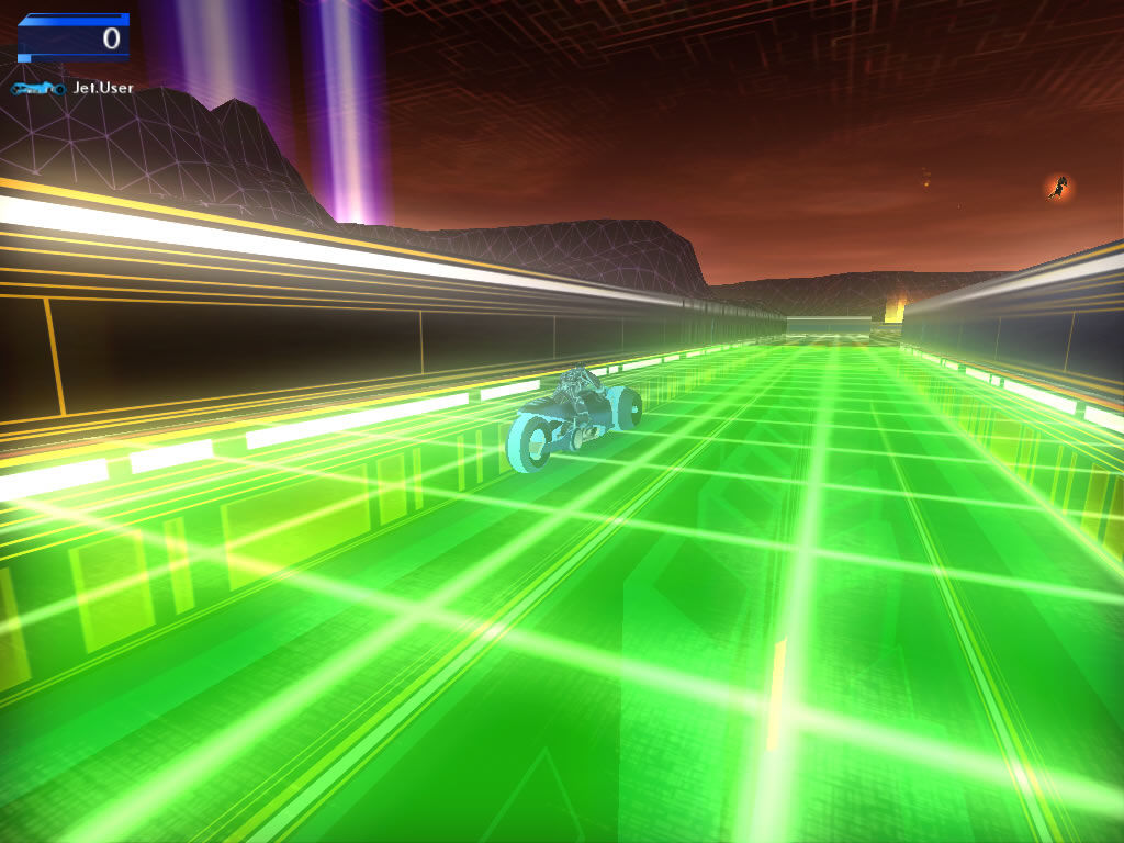TRON 2.0 Windows Having fun with the lightcycle races which appear as minigames inbetween levels