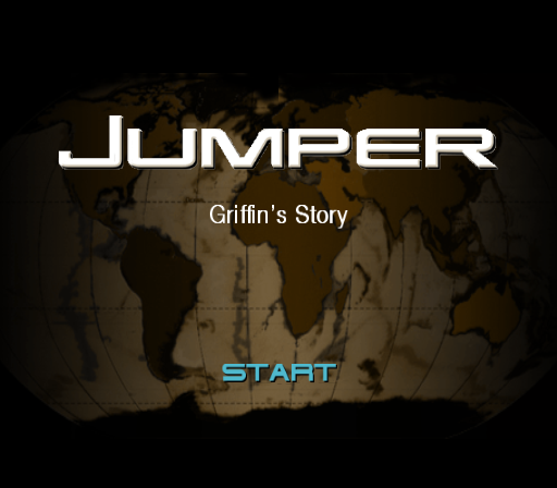Jumper: Griffin's Story PlayStation 2 Title screen.