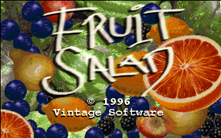 Fruit Salad DOS The game's title screen