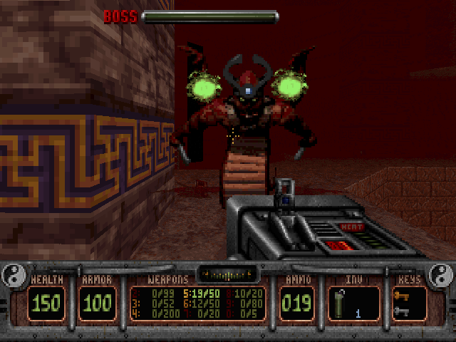 Shadow Warrior DOS The first boss in the levels of the full version