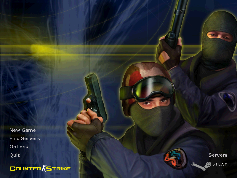 Half-Life: Counter-Strike Windows Main menu
