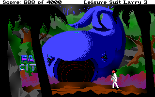 Leisure Suit Larry III: Passionate Patti in Pursuit of the Pulsating Pectorals Amiga Outside Fat City, the local health spa