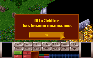 X-COM: UFO Defense Amiga CD32 One of my soldiers became unconscious, maybe I can still save him.
