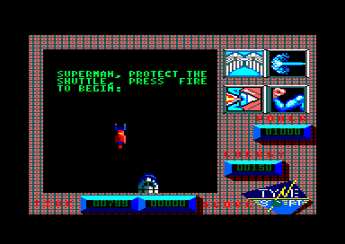 Superman: The Man of Steel Amstrad CPC Second mission is to protect the shuttle