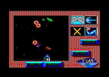 Superman: The Man of Steel Amstrad CPC Shooting and colliding with space debris