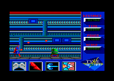 Superman: The Man of Steel Amstrad CPC Encountering a hostile droid