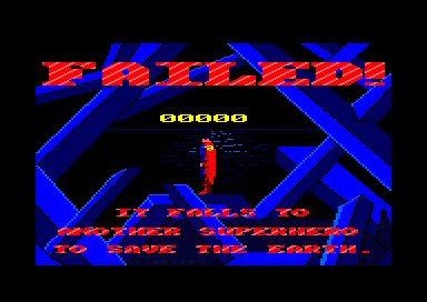 Superman: The Man of Steel Amstrad CPC You failed this time