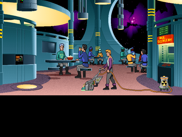 Space Quest 6: Roger Wilco in the Spinal Frontier DOS This means back to janitor services