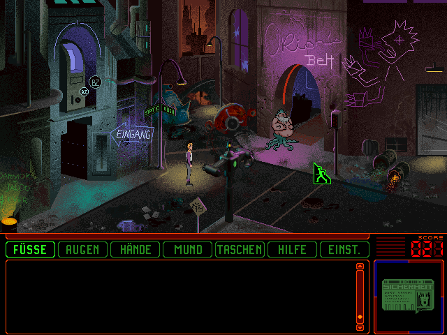 Space Quest 6: Roger Wilco in the Spinal Frontier DOS Another rotten street