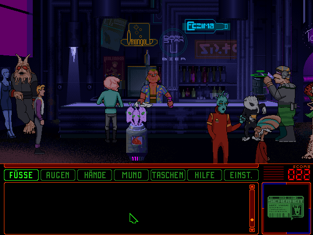 Space Quest 6: Roger Wilco in the Spinal Frontier DOS At the bar; like in the rest of the city, you cannot talk to most of the persons