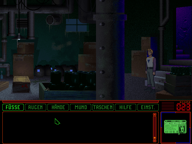 Space Quest 6: Roger Wilco in the Spinal Frontier DOS Found nothing of interest in the cellar
