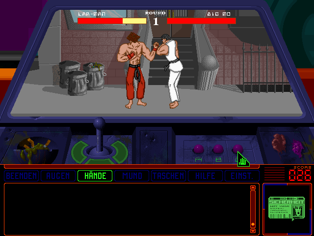 Space Quest 6: Roger Wilco in the Spinal Frontier DOS ... you can play this Street Fighter parody