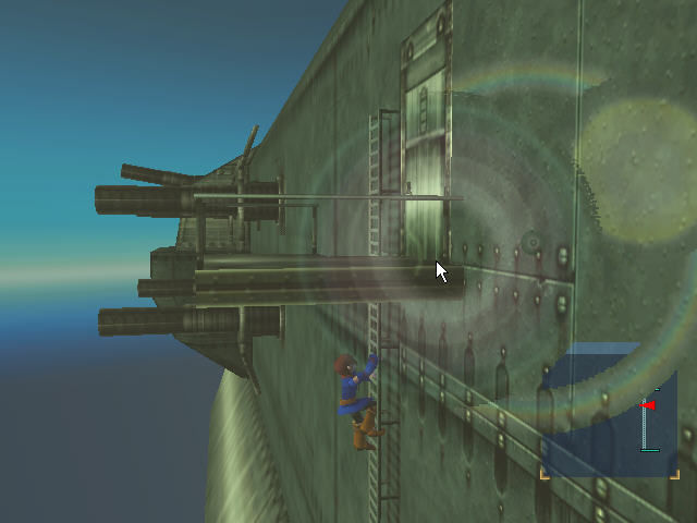 Skies of Arcadia Dreamcast Vyse enjoys awesome graphical effects while climbing the ladder