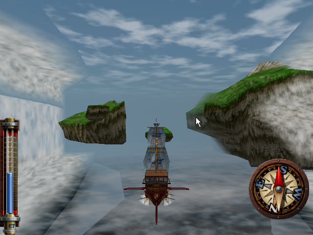 Skies of Arcadia Dreamcast Ship navigation. Ahh, the adventure...