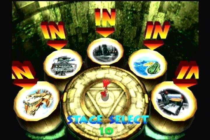 Power Stone 2 Dreamcast Stage select screen.