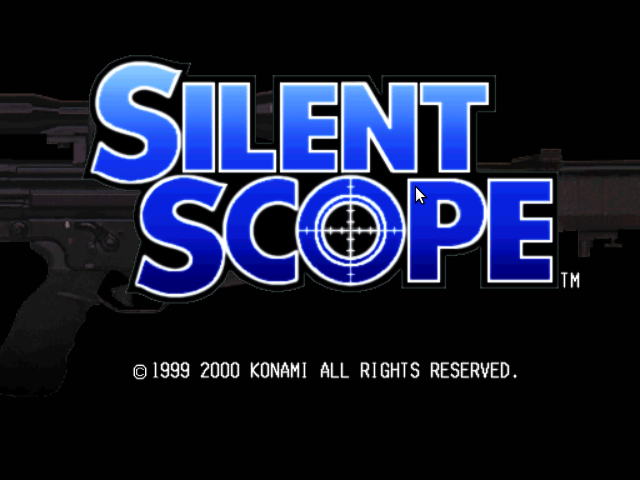 Silent Scope Dreamcast Title screen