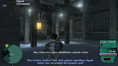 Syphon Filter: Dark Mirror PSP The 1st mission. Some nice-looking visuals here!
